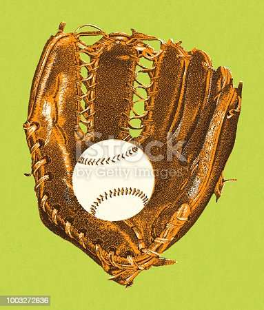 Baseball Glove and Baseball