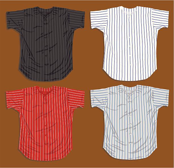 Baseball Jerseys - Front vector art illustration