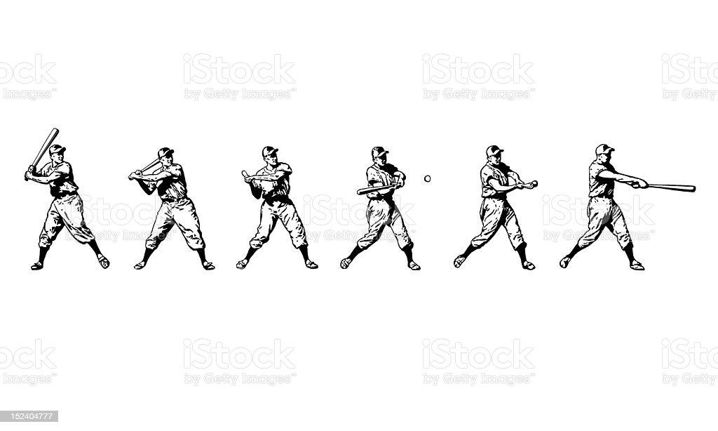 Baseball Player at Bat vector art illustration