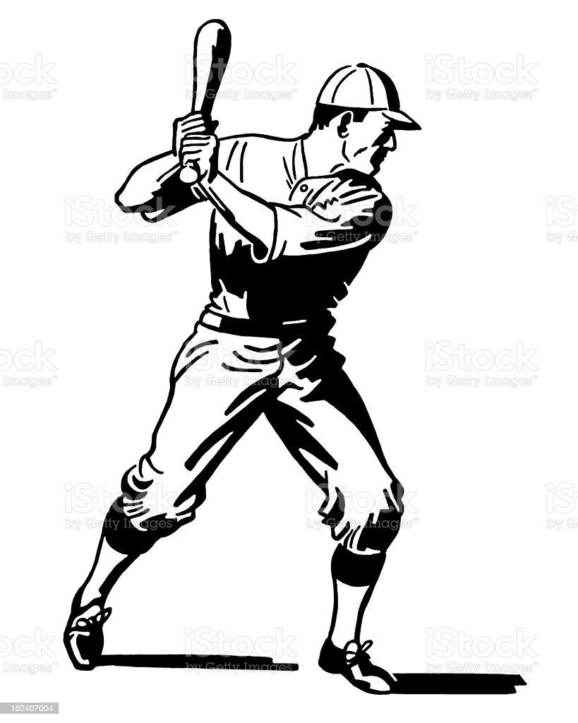Baseball Player at Bat royalty-free baseball player at bat stock vector art & more images of adult
