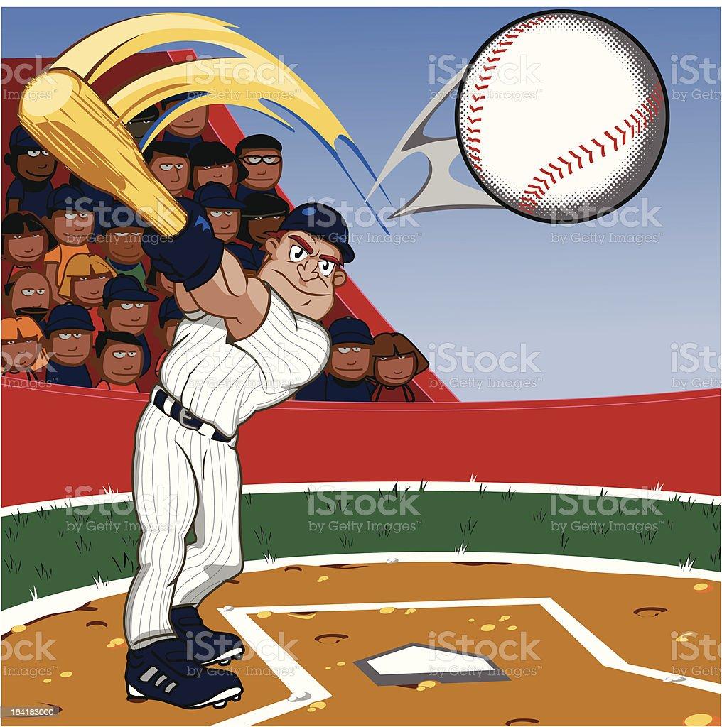 Baseball Player vector art illustration