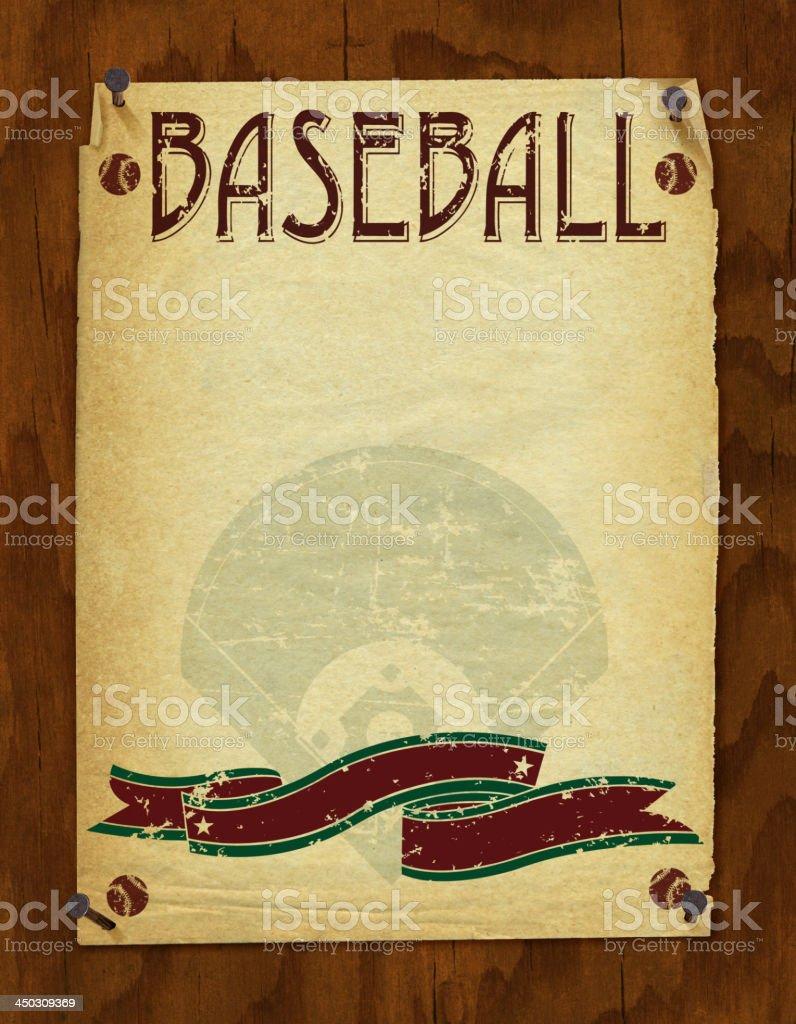 Baseball Poster Background - Retro vector art illustration
