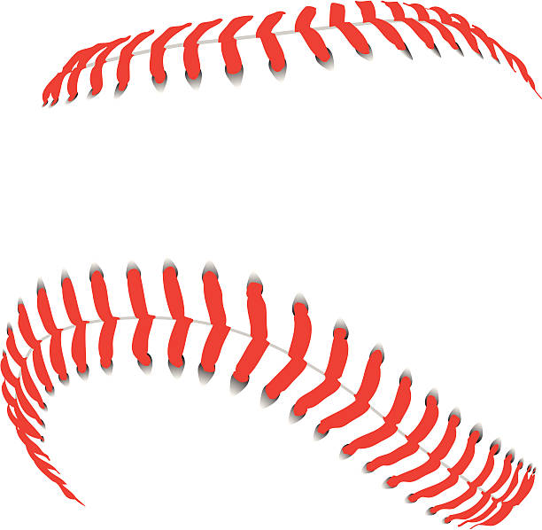 baseball seams - softball stock illustrations, clip art, cartoons, & icons