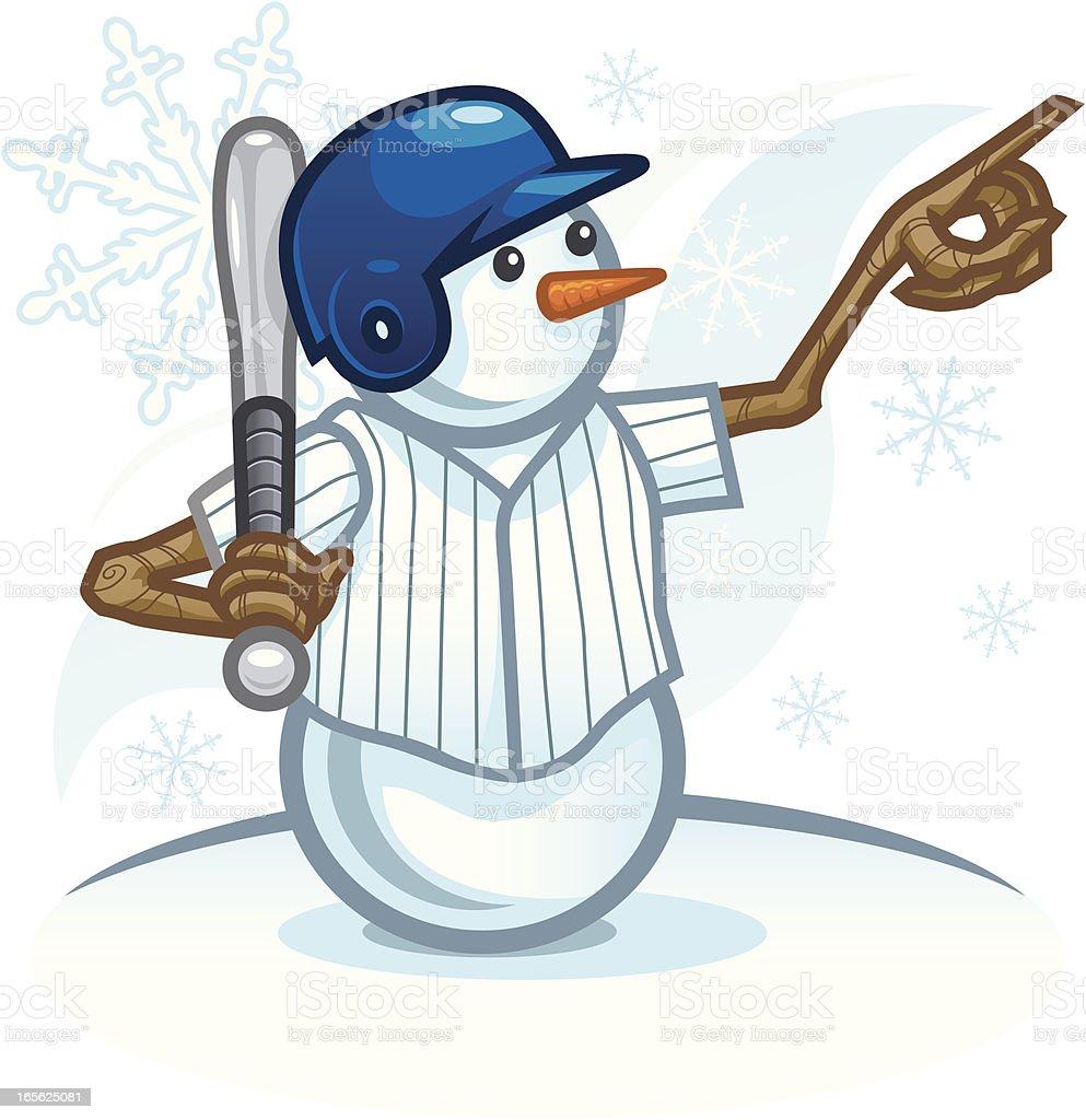 Baseball Snowman royalty-free stock vector art