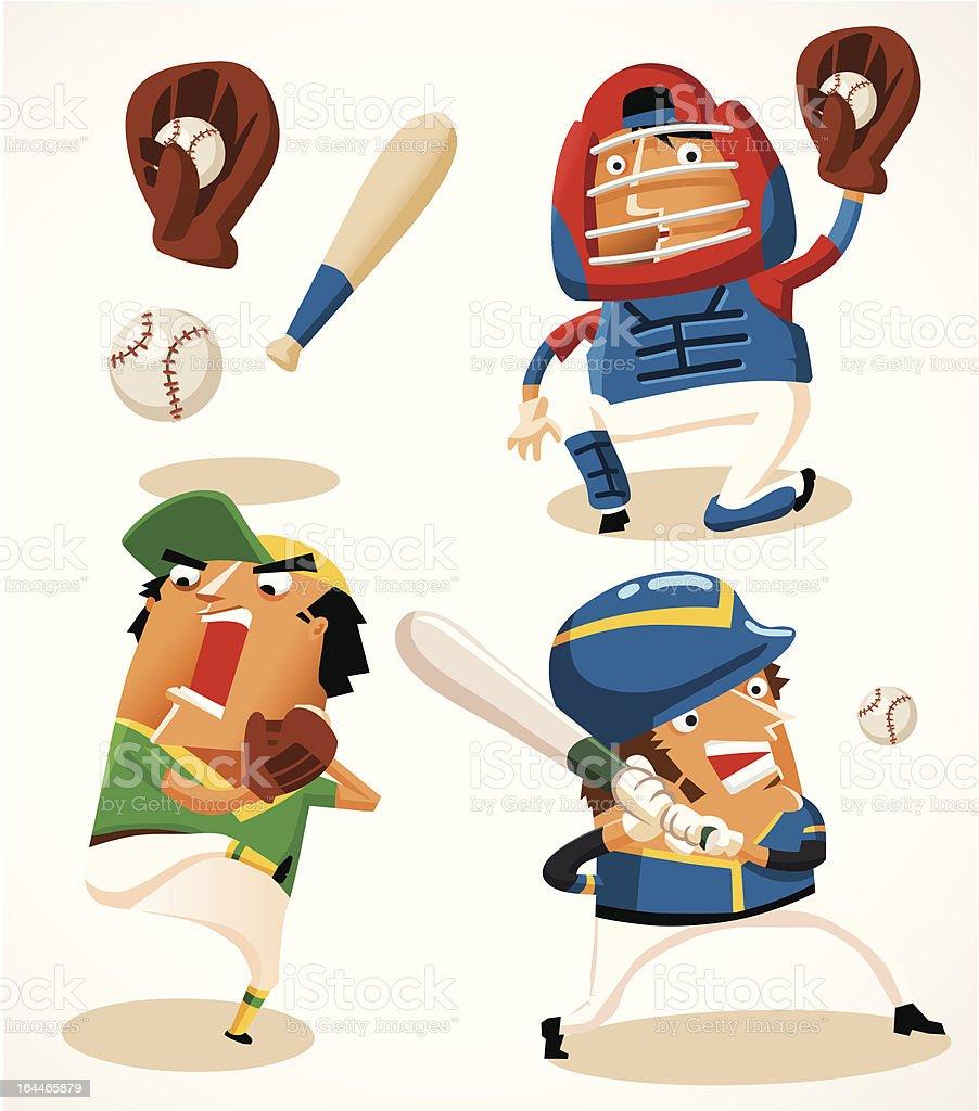 Baseball Sport Player vector art illustration