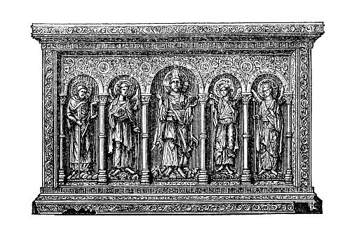 Basel altar board, 11th century, Musee de Cluny, France