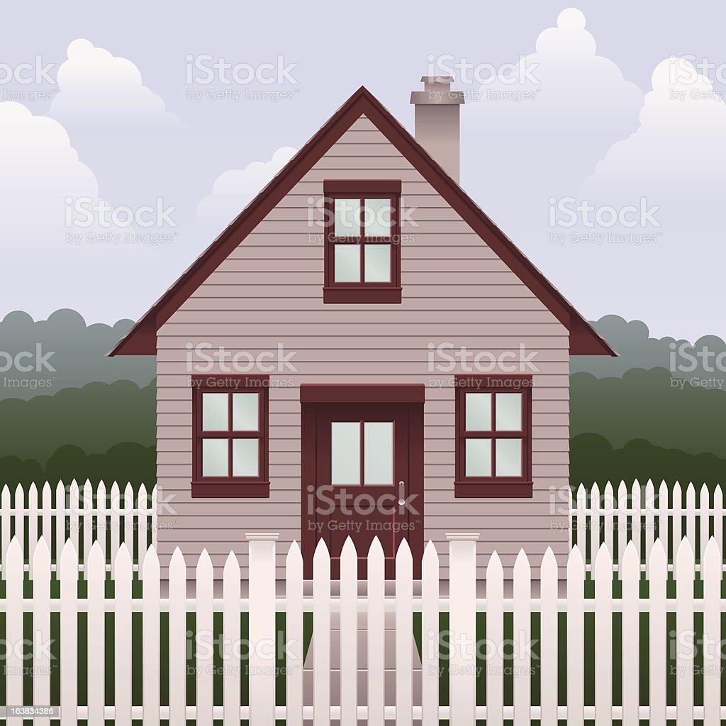 Basic small house royalty-free stock vector art