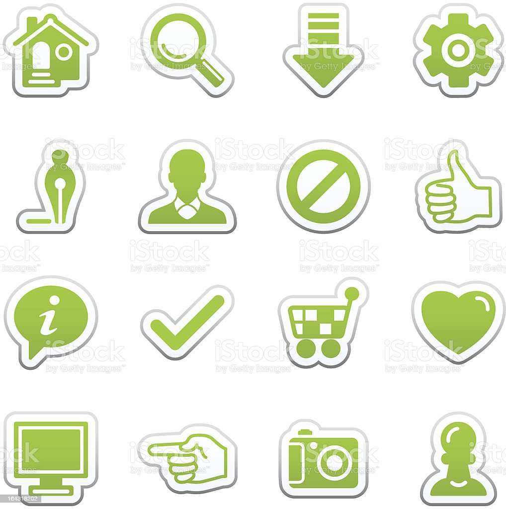 Basic web icons. royalty-free stock vector art