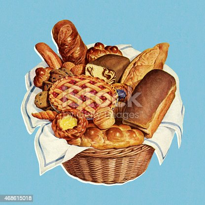 Basket Full of Baked Goods