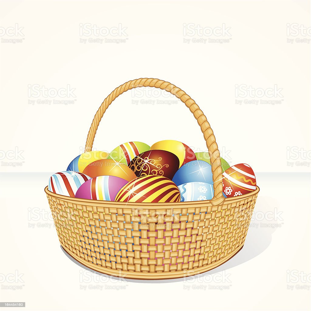 Basket with Eggs royalty-free basket with eggs stock vector art & more images of animal egg