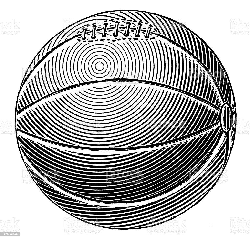 Basketball | Antique Sport Illustrations royalty-free stock vector art
