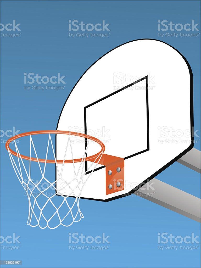 Basketball backboard royalty-free stock vector art