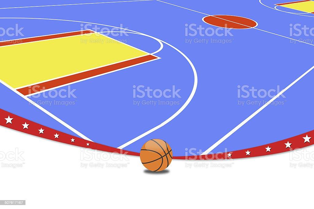 Basketball Background. vector art illustration