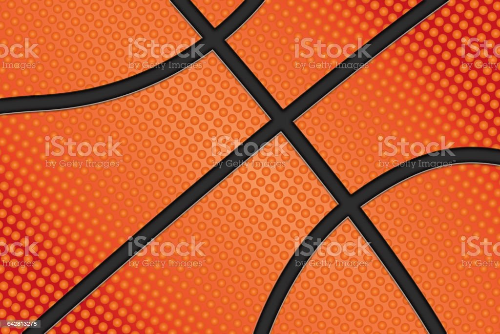 Basketball ball background vector art illustration