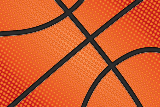 Basketball ball background vector art illustration