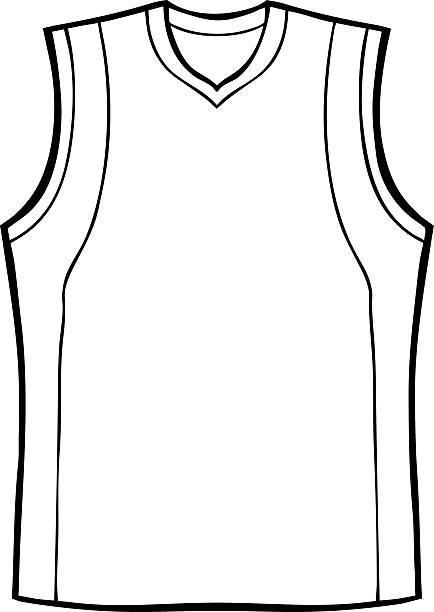 df5529a925e Top 60 Basketball Jersey Drawing Clip Art, Vector Graphics and ...