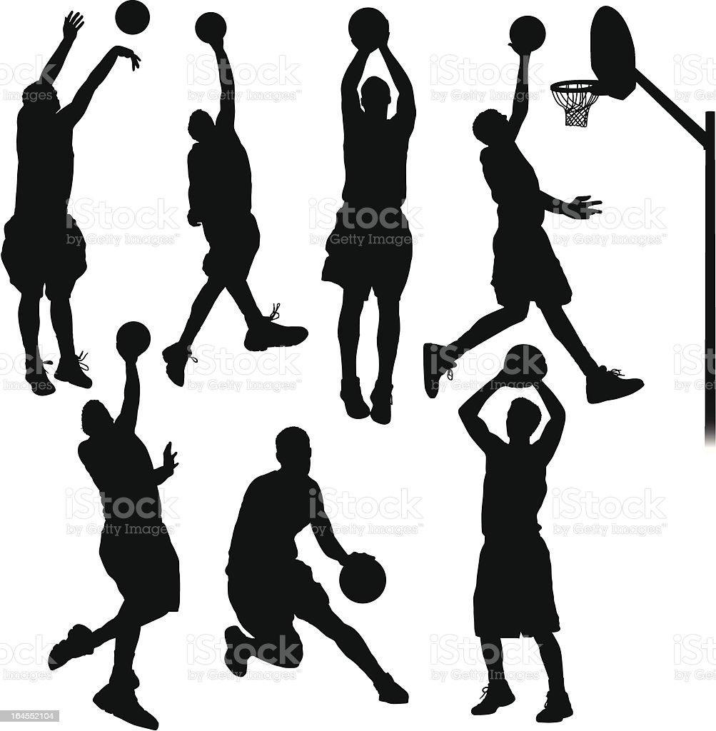 バスケットボール選手 ベクターアートイラスト