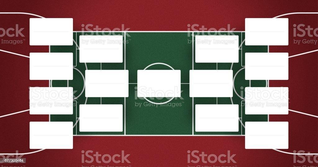 Basketball playoffs schedule - playoff bracket - Basketball playoffs - red and green colors vector art illustration