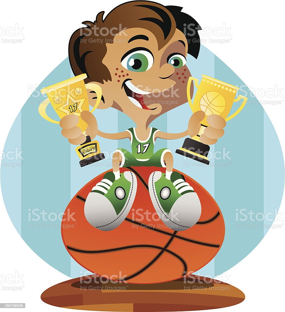 Basketball Winner vector art illustration