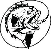bass fishing graphic