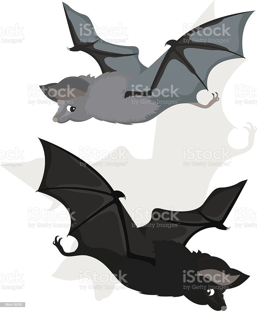 Bat in two variants royalty-free bat in two variants stock vector art & more images of animal