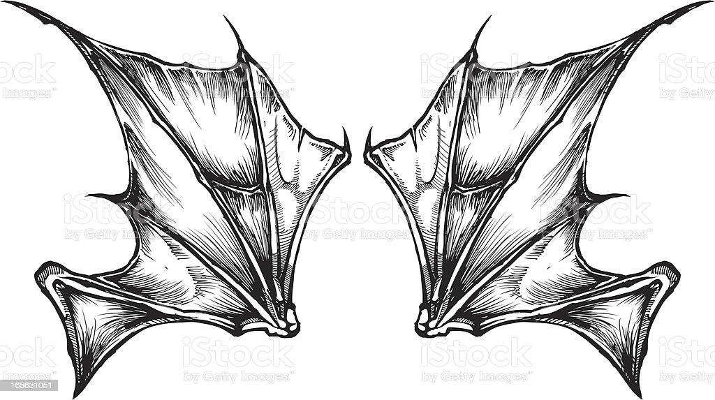 Bat Wings Stock Vector Art 165631051 | IStock