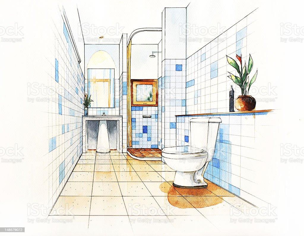 badezimmer zeichnen design