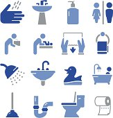 Bath icon set. Professional icons for your print project or Web site. See more in this series.