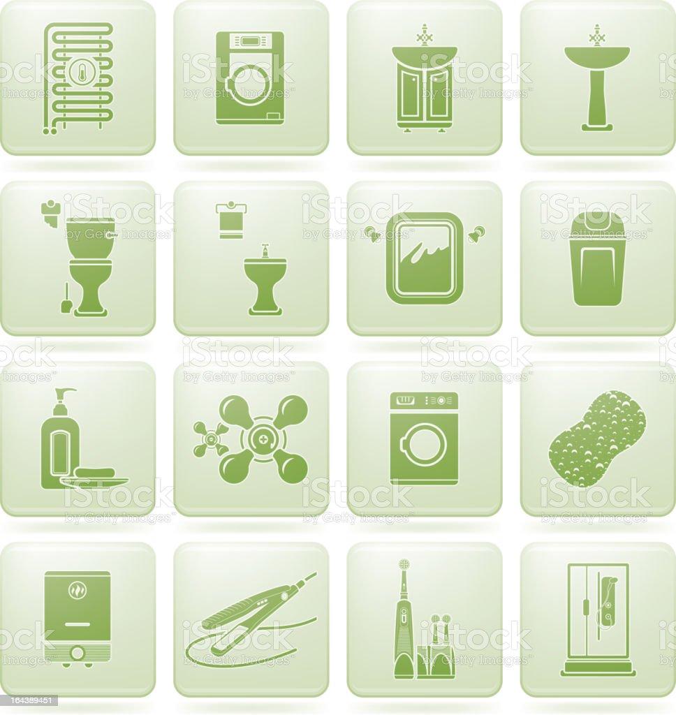 Bathroom utensils royalty-free stock vector art