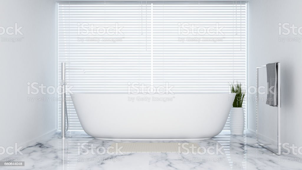 bathroom white tone in apartment  or hotel vector art illustration