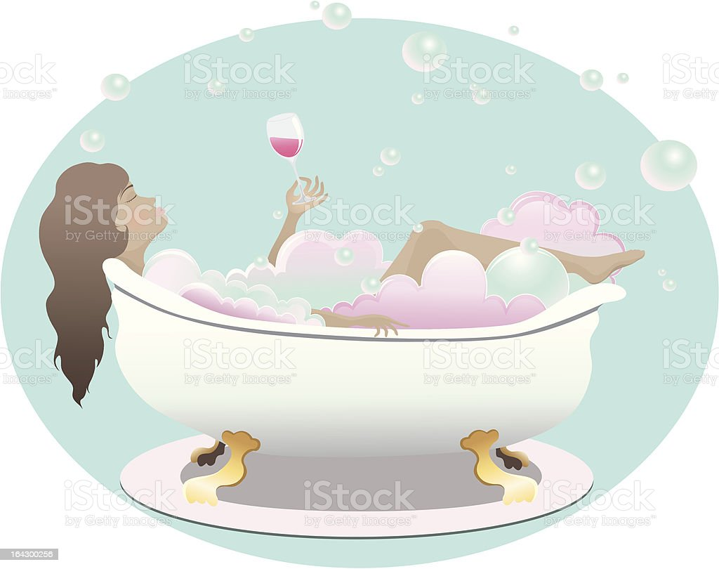 Bathtime Relaxation royalty-free stock vector art