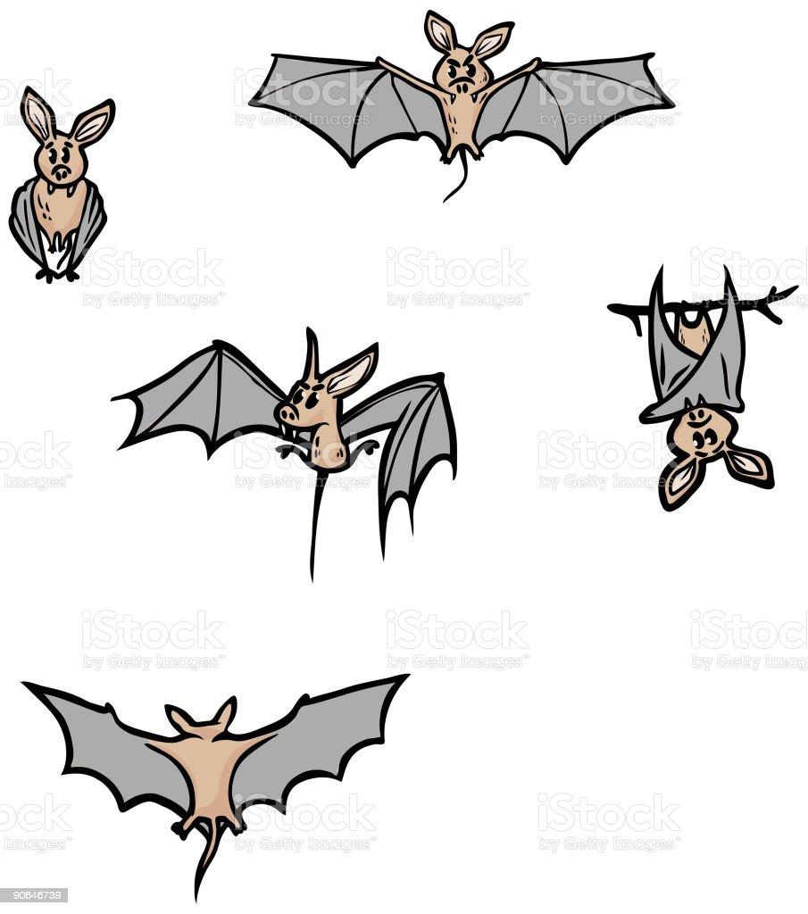 Bats Bonus Pack royalty-free stock vector art