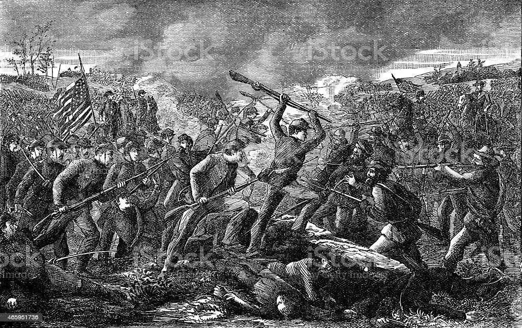 Battel of Gettysburg vector art illustration