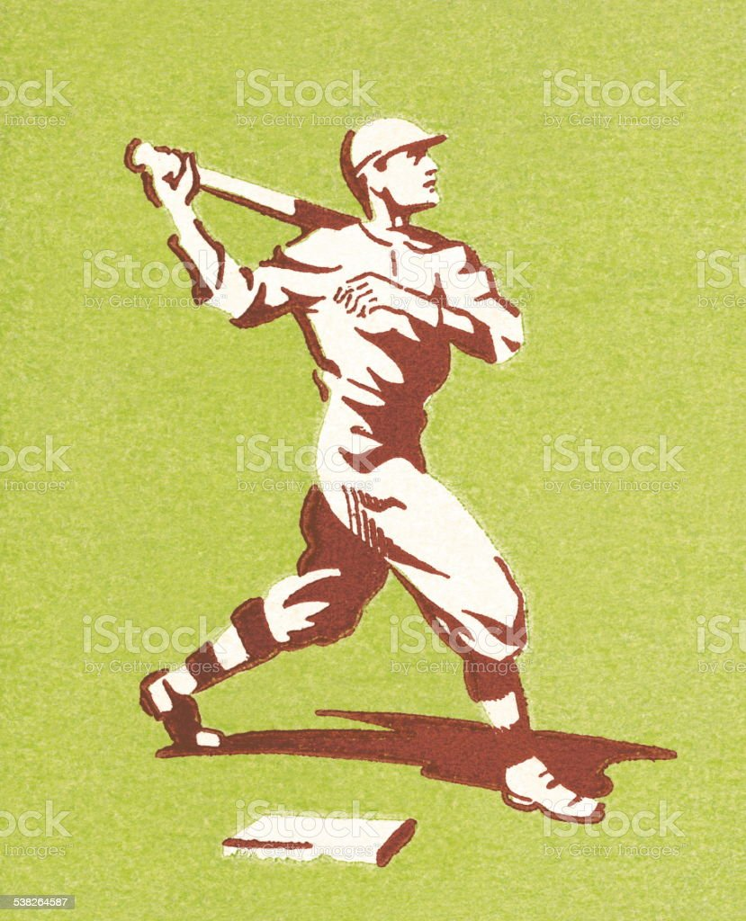 Batter up vector art illustration