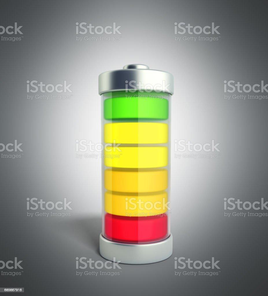 電池充電電池充電綠色水準指標 免版稅 電池充電電池充電綠色水準指標 向量插圖及更多 低 圖片