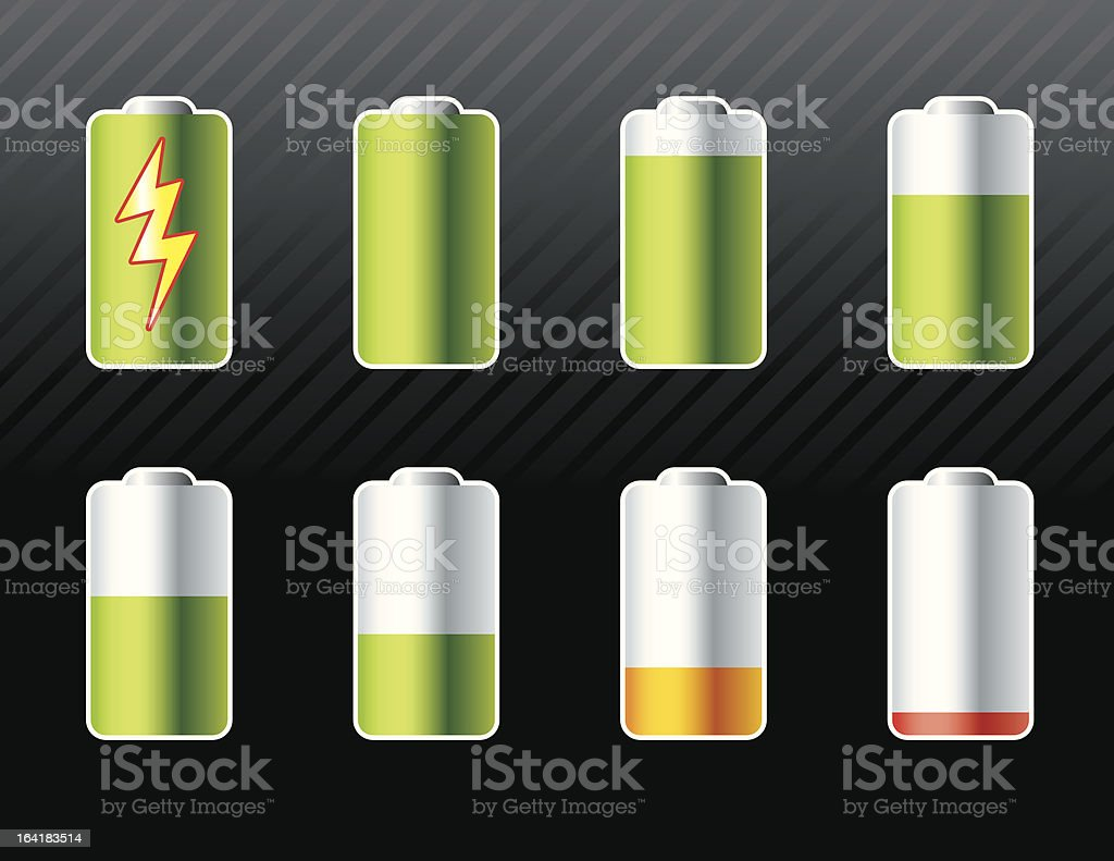 Battery Icons royalty-free stock vector art