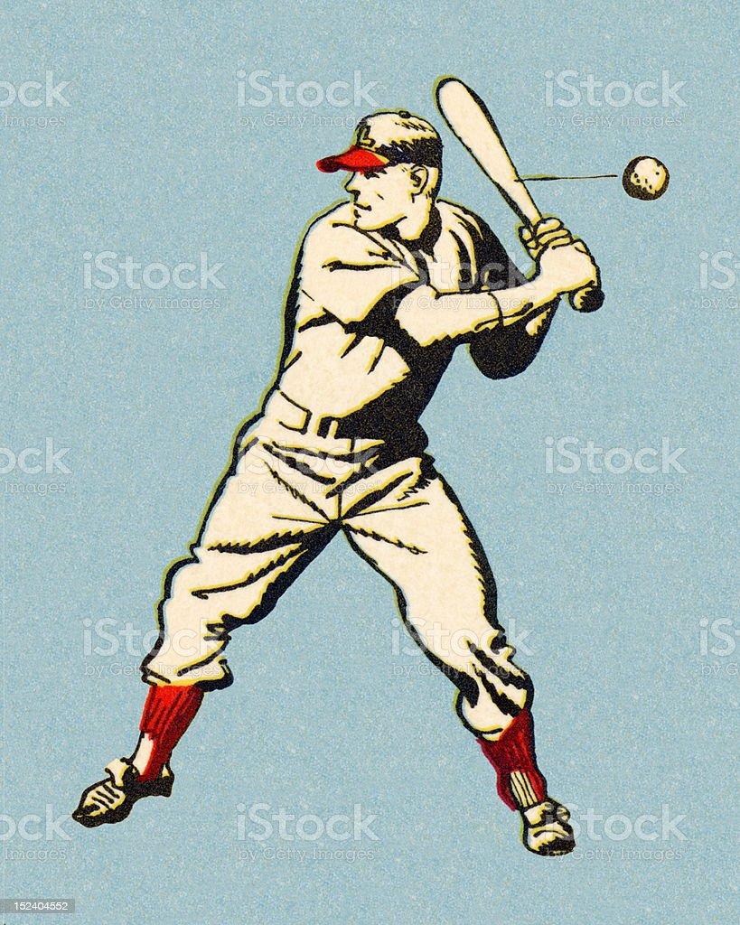 Batting Baseball Player royalty-free batting baseball player stock vector art & more images of adult