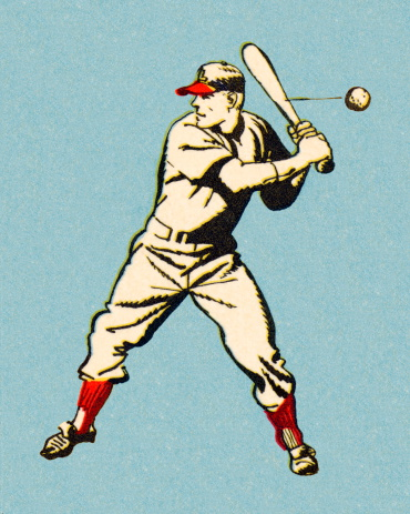 Batting Baseball Player
