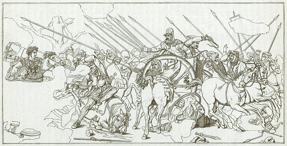 Battle of Alexander (331 BC), mosaic Casa del Fauno, Pompeii
