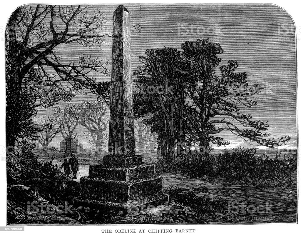 Battle of Barnet Memorial royalty-free stock vector art