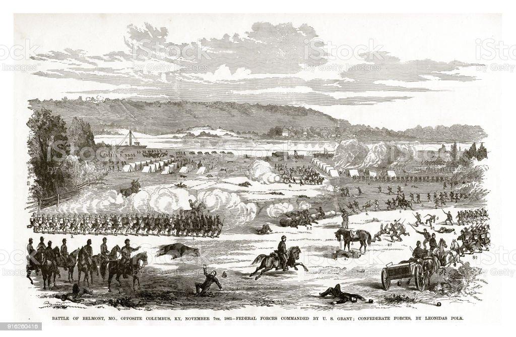 Battle Of Belmont Missouri Opposite Columbus Kentucky