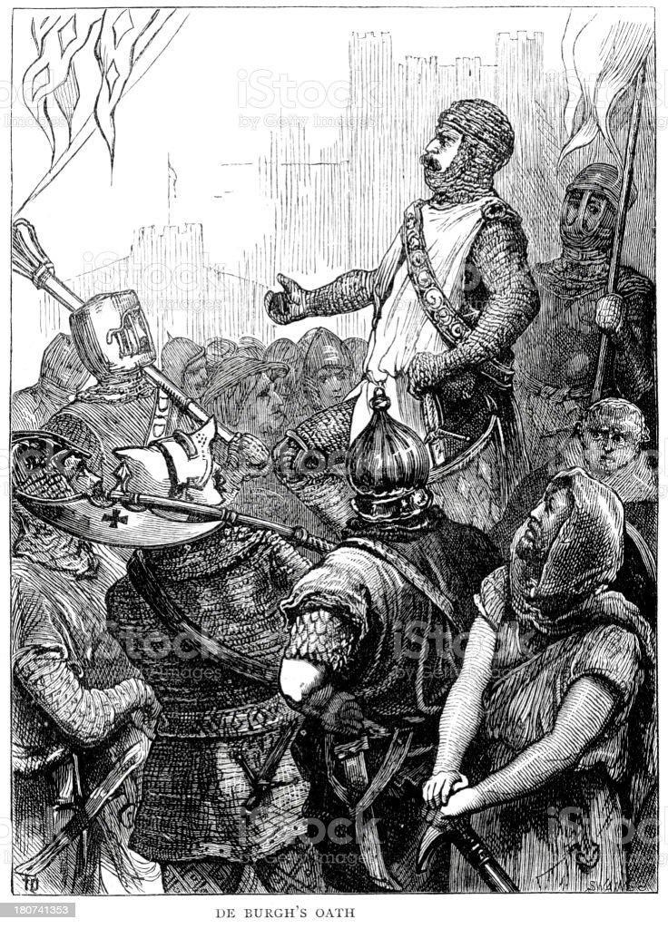 Battle of Dover 1217 royalty-free stock vector art