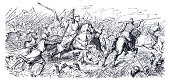 istock Battle of Legnica Mongols attacking Knight Templas 13th century 1321699544