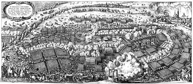 Illustration of a Battle of Lützen (1632) during the Thirty Years' War