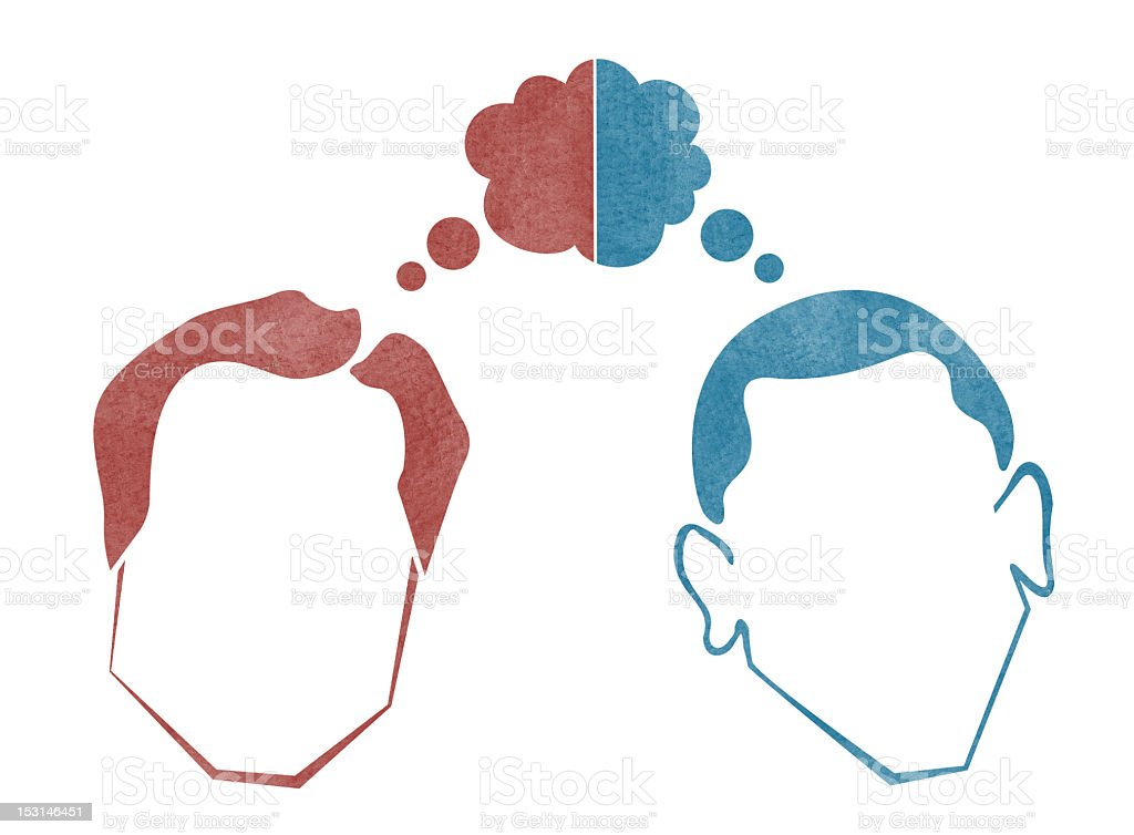 Battle of Political Thought royalty-free stock vector art