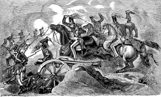 Battle of Resaca de la Palma - Antique Engraving