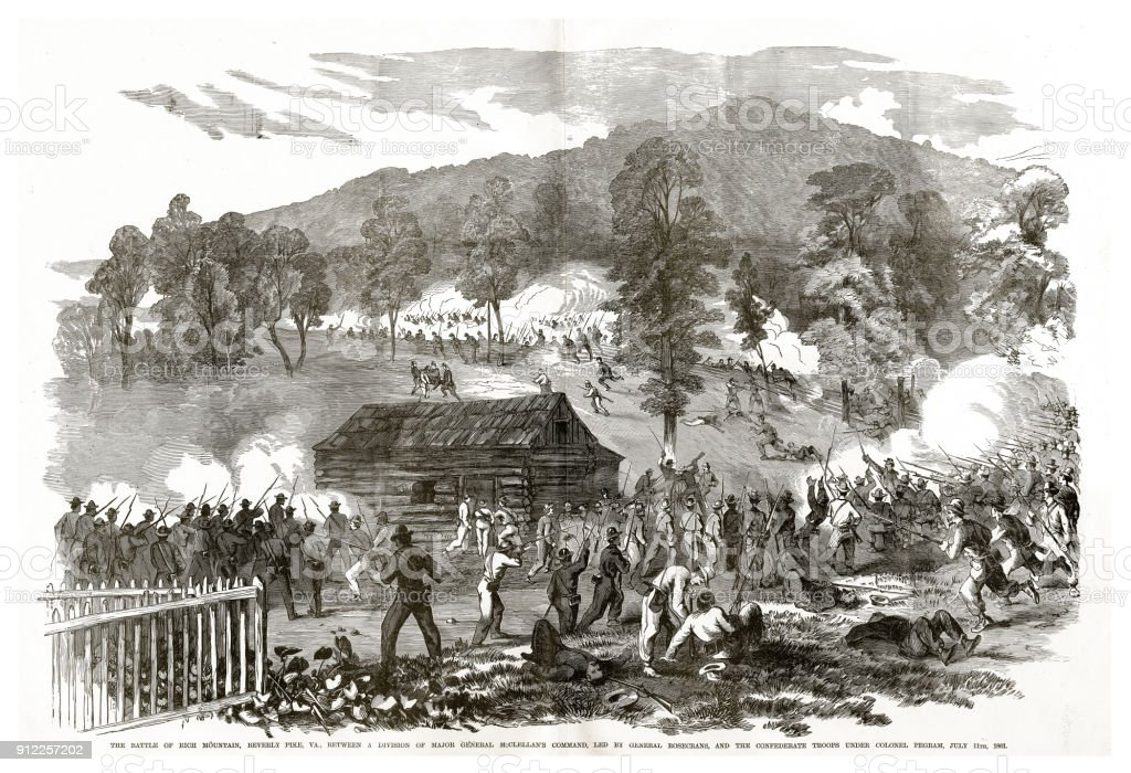 Schlacht Von Rich Mountain Beverly Pike Virginia Juli 11 1861 ...
