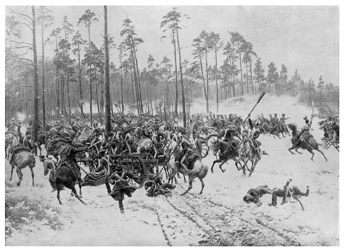 Battle of Stoezek  - Scanned 1894 Engraving