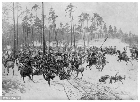 Battle of Stoezek  - Scanned 1894 Engraving