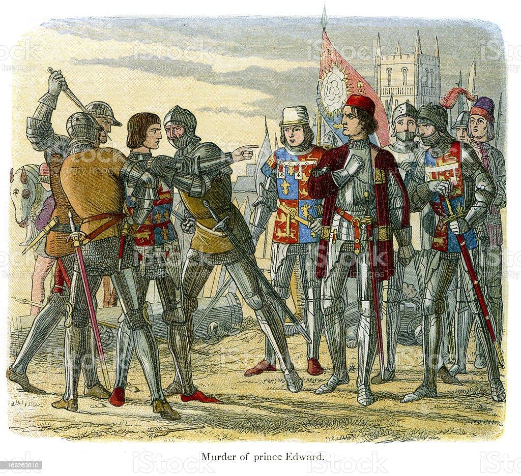Battle of Tewksbury 1471 royalty-free stock vector art
